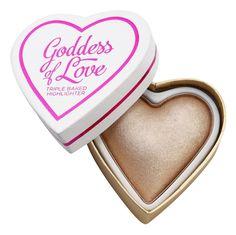 Makeup Revolution I ♥ Makeup Blushing Hearts rozjasňující pudr 2