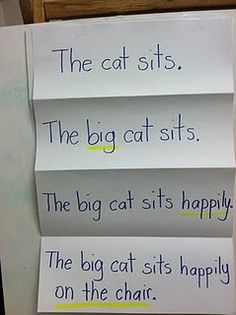 Expanding sentences.  Absolutely doing this with the kids.