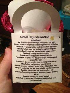 Softball Players Survival Kit