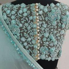 designer blouse on I Netted Blouse Designs, Saree Blouse Neck Designs, Fancy Blouse Designs, Bridal Blouse Designs, Lehenga Designs, Sari Design, Net Saree Blouse, Blouse Batik, Jeans Cargo