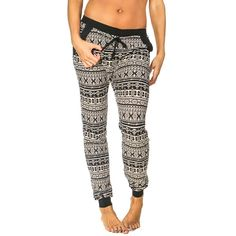 Ladies Printed Soft Brushed Jogger Pants: Aztec - Small ($11) ❤ liked on Polyvore featuring activewear and activewear pants