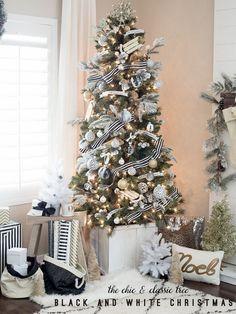 Dream Tree Challenge - Black and White Christmas
