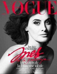 Ines de la Fressange invitée d'honneur du numéro de Noël 2014 de Vogue Paris