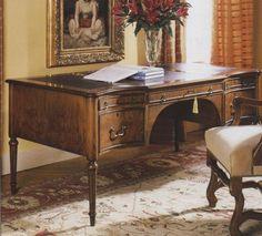 Walnut Serpentine Front Writing Desk