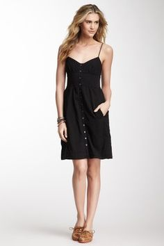 Button Front Slip Dress. I want this for summer when it gets so hot you can't bear to wear clothes.