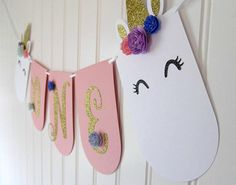 Unicorn Banner High Chair Banner Unicorn First Birthday