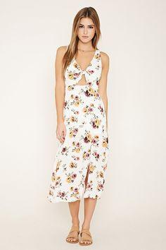FOREVER 21 floral print midi dress - $27.90