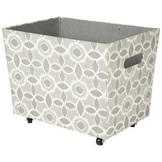Decorative Fabric Storage Boxes Open Top Oval Storage Bin With Cut Out Handle Lavender Waverly