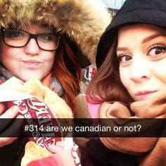 Eating BeaverTails pastries in sub-zero temps - YES, you are Canadian :) via @angeliquegauthierr on IG