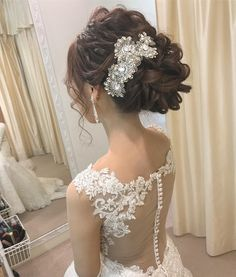 Wedding Hair And Makeup, Bridal Hair, Hair Makeup, Bride Hairstyles, Cool Hairstyles, Japanese Hairstyle, Hair Jewelry, Bridal Style, Headpiece