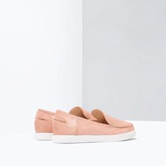 Image 3 of FLAT LEATHER SHOES from Zara