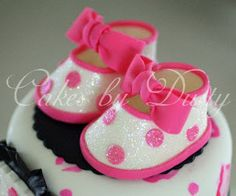Baby  Shoes Cake Topper