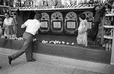 James Dean at a fair in Texas, 1955.