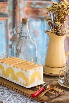 tarta de yogurt y piña Fancy Cakes, Mini Cakes, Ultimate Cheesecake, Sweet Recipes, Cake Recipes, Charlotte Cake, Crepe Cake, Loaf Cake, Drip Cakes