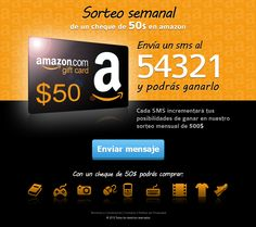 Landing Page de Sorteo para una tarjeta de Regalo de Amazon