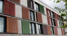 Location: Kongsberg Norway Architect/Specifier: Link Signatur Featrining Hunter Douglas Sliding Shutters for Sun Control. #architecture #school #education #architecture #design #hunterdouglas #shutters