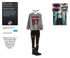 """To look at someone and smile for no reason"" by happily-depressed ❤ liked on Polyvore featuring moda, Chicnova Fashion, River Island y Timberland"