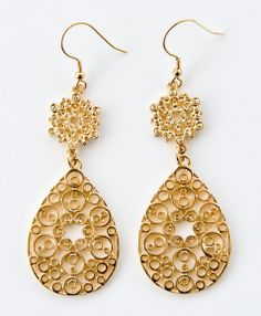 Filigree Paisley Earrings.  Support fair trade.  Buy Noonday! #NoondayChristmas
