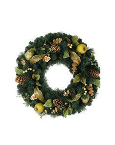 28 a 32 artificial decorado coronas de navidad balsam colina