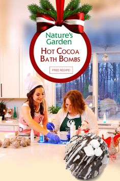 Hot Cocoa Bath Bombs Recipe from the Natures Garden Christmas Special!