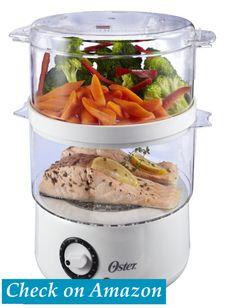 Oster CKSTSTMD5-W 5-Quart Food Steamer. The Posh Living Blog.