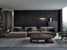 With Spring almost here, we want to inspire you for a new modern interior design for your living room. Living Room Modern, Living Room Interior, Home Living Room, Living Room Furniture, Living Room Designs, Living Spaces, Furniture Usa, Sofa Design, Canapé Design
