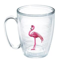 Features:  -Sun and Surf collection.  -Made in the USA.  -Double-walled insulated drinkware.  Country of Manufacture: -United States.  Product Type: -Coffee mug.  Color: -Clear/pink.  Style: -Contempo
