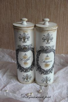 DIY: How to Get this Aged Finish on a Pringles Container - wow!, this artist has VISION!!! Info (translation) on how this is done is on the post - via Live Master