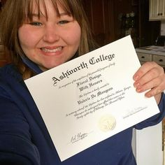 Congratulations to Valerie on receiving her diploma, with HONORS, in our Online Floral Design program! #ashworthreviews #ashworthcollege