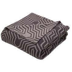 Kess InHouse Trebam Kutije V.4 Yellow Gray Throw 80 x 60 Fleece Blanket