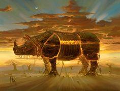 Arte Pintura Ilusao Magia Optica Surrealismo Fantasia Fantastica