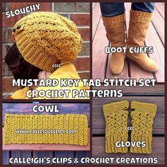 'Crocheting : Key Tab E-book, 4 patterns plus one bonus pattern
