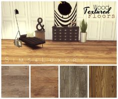 Wood textured floors set 1 at Sims4 Luxury via Sims 4 Updates