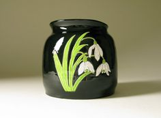 Snowdrop Flower Pottery Art Vase Vessel by wolfartglass on #etsy #pottery #snowdrop #spring #craft #handmade