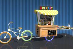 Art Cart: A Freewheeling Art Classroom Vendor Cart, Art Cart, Mobile Art, Art Classroom, Art Studios, Airstream, Lab, Projects, Reading