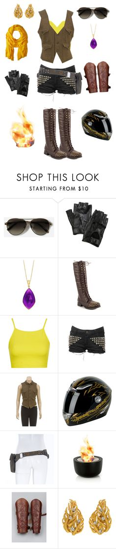 """""""Yang Xiao Long-RWBY"""" by conquistadorofsorts ❤ liked on Polyvore featuring CHARLES & KEITH, Carolina Amato, JustFab, Topshop, Ralph Lauren, blomus, David Webb and Love Quotes Scarves"""