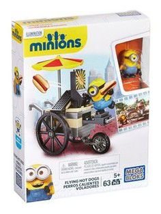 Mega Blocks - Minion's deluxe figures with accessories - flying hot dogs