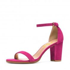 How about this shoe?  Share to get a coupon for all on FSJ Hot Pink Block Heel Sandals Ankle Strap Heels