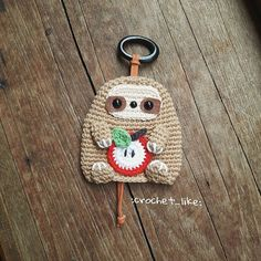 Irresistible Crochet a Doll Ideas. Radiant Crochet a Doll Ideas. Crochet Key Cover, Crochet Case, Crochet Gifts, Easy Crochet Projects, Small Sewing Projects, Yarn Projects, Crochet Sloth, Crochet Animals, Crochet Dolls
