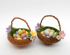 1/12th scale food  floral basket with easter eggs  by by 64tnt