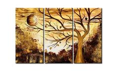 Tree of Life Painting, Moon Painting, 3 Piece Painting, Modern Acrylic – ArtWorkCrafts.com Buy Paintings Online, Canvas Paintings For Sale, Canvas Art For Sale, Large Canvas Art, Modern Art Paintings, Abstract Canvas Art, Acrylic Paintings, Abstract Oil, Acrylic Art
