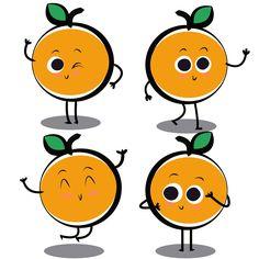 Orange Cartoon Character Fruit