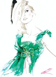 David Downtown #FASHION #Emerald #Illustration