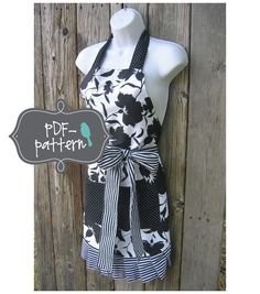 Women's Apron PDF INSTANT DOWNLOAD Sewing by twirlybirdpatterns, $7.00