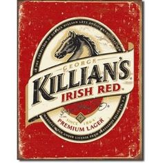 Killian's Beer Logo Distressed Retro Vintage Tin Sign