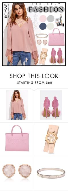 """""""Romwe✔️"""" by armella ❤ liked on Polyvore featuring Moschino, Michele, Monica Vinader, Cartier and Napoleon Perdis"""