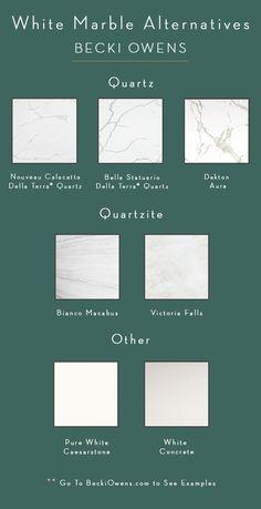 7 Beautiful White Marble Alternativesbecki Owens
