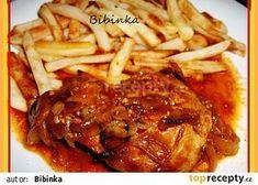 Delikatesní vepřové plátky se zálivkou Good Food, Food And Drink, Treats, Chicken, Cooking, Recipes, Tasty Food Recipes, Author, Boleros