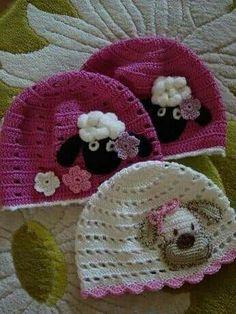 Crochet Baby Beanie, Crochet Toddler, Crochet Kids Hats, Crochet Girls, Crochet Crafts, Crochet Projects, Crochet Quilt, Crochet Doily Patterns, Crochet Flowers