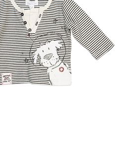 Baby Boys + Accessories Space Mock Grandad Top Cloud Dancer tee